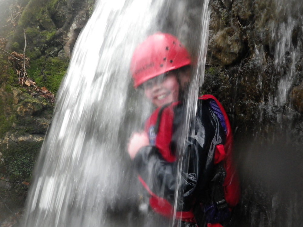 Gorge scrambling, ghyll scrambling, gorge walking