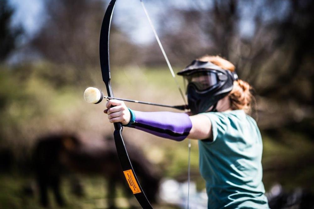 Becky takes aim