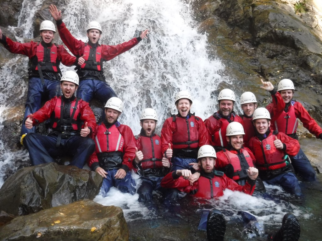 Canyon Stag party Lake District