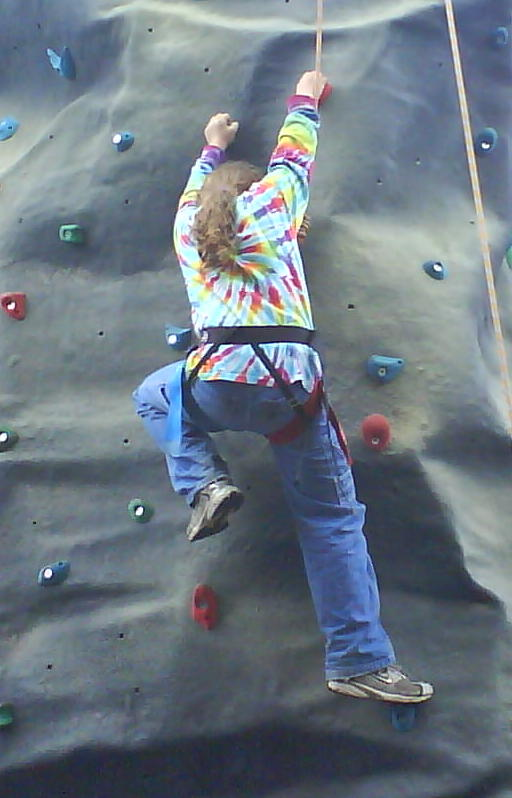Climbing at the climbing wall