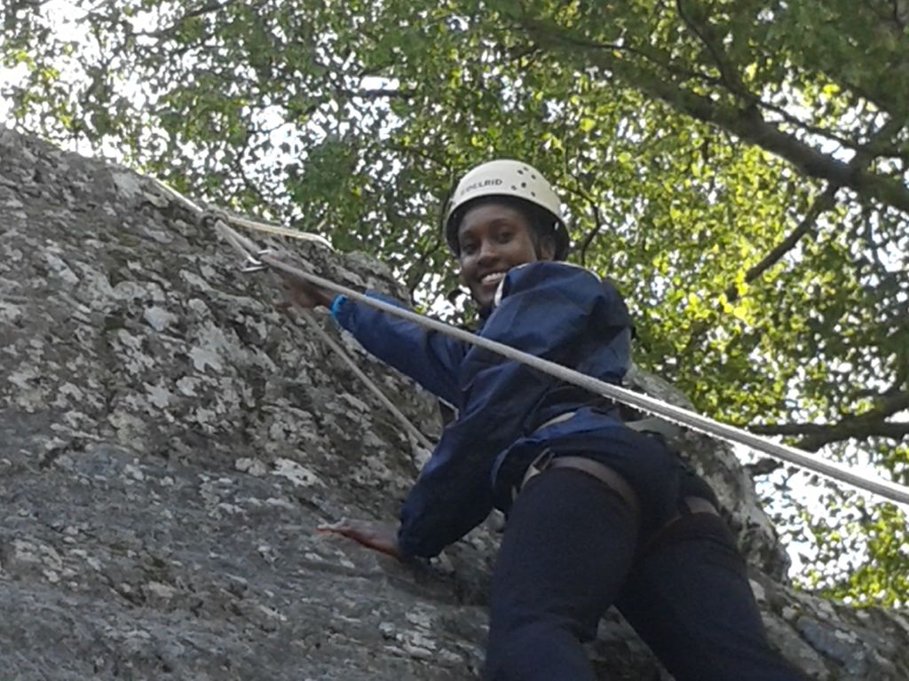 Climbing with Emma