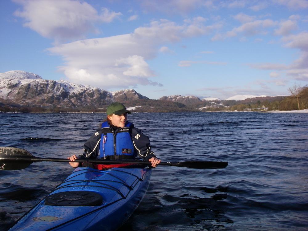 Lake District kayaking to File Island Coniston Water