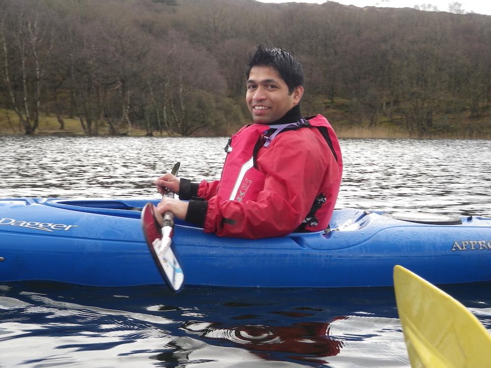 Lake district kayaking on coniston water