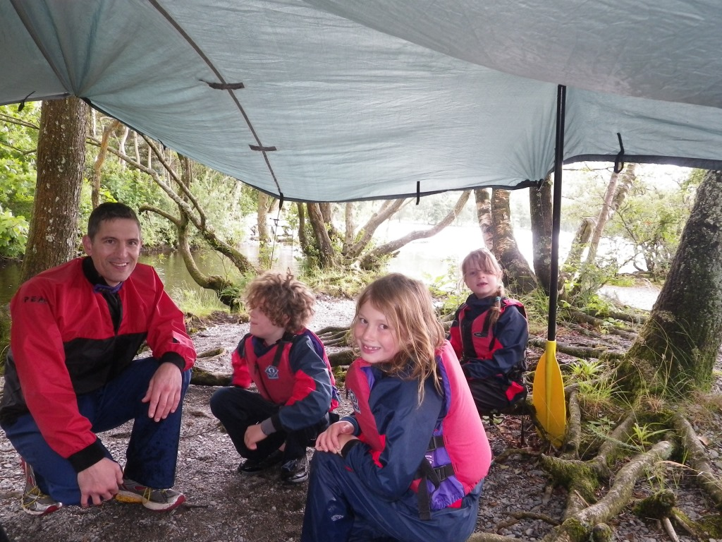 Tarp shelter Family Adventure Day