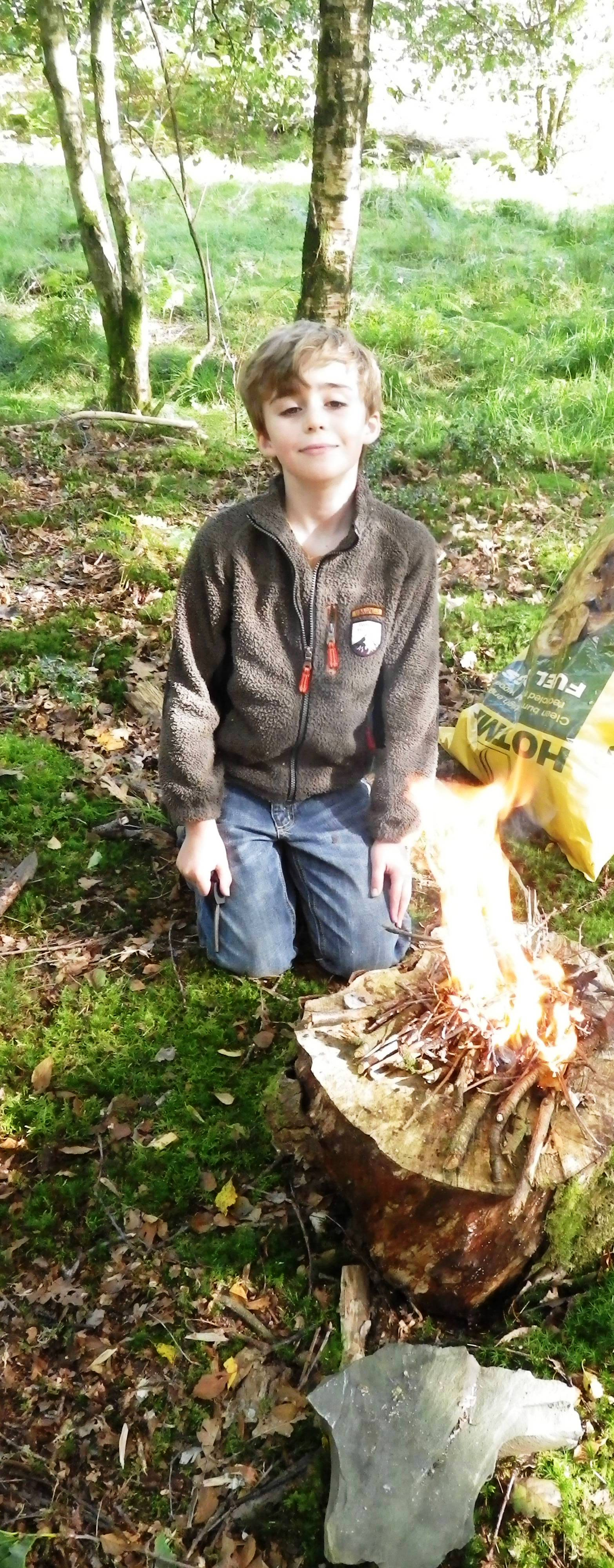 Making a fire