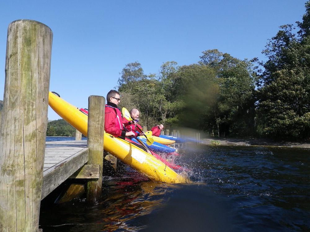 Kayak seal launch