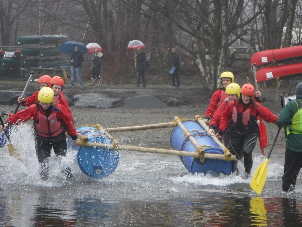 Raft race start
