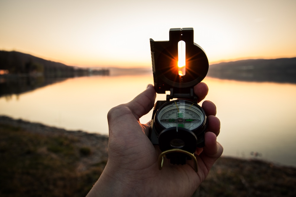 Navigating with a compass in the Lake District