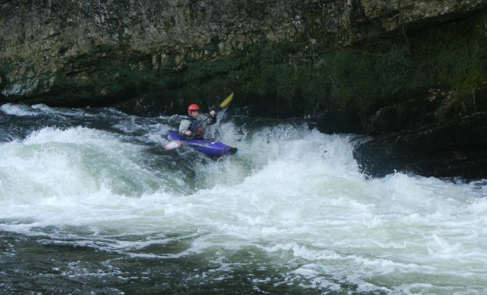 Advanced white water kayaking