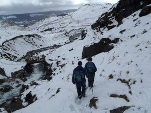 Outdoor adventures in winter