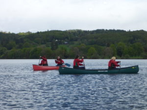 Hen party canoe