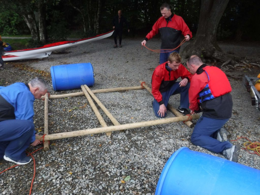 raft building in teams