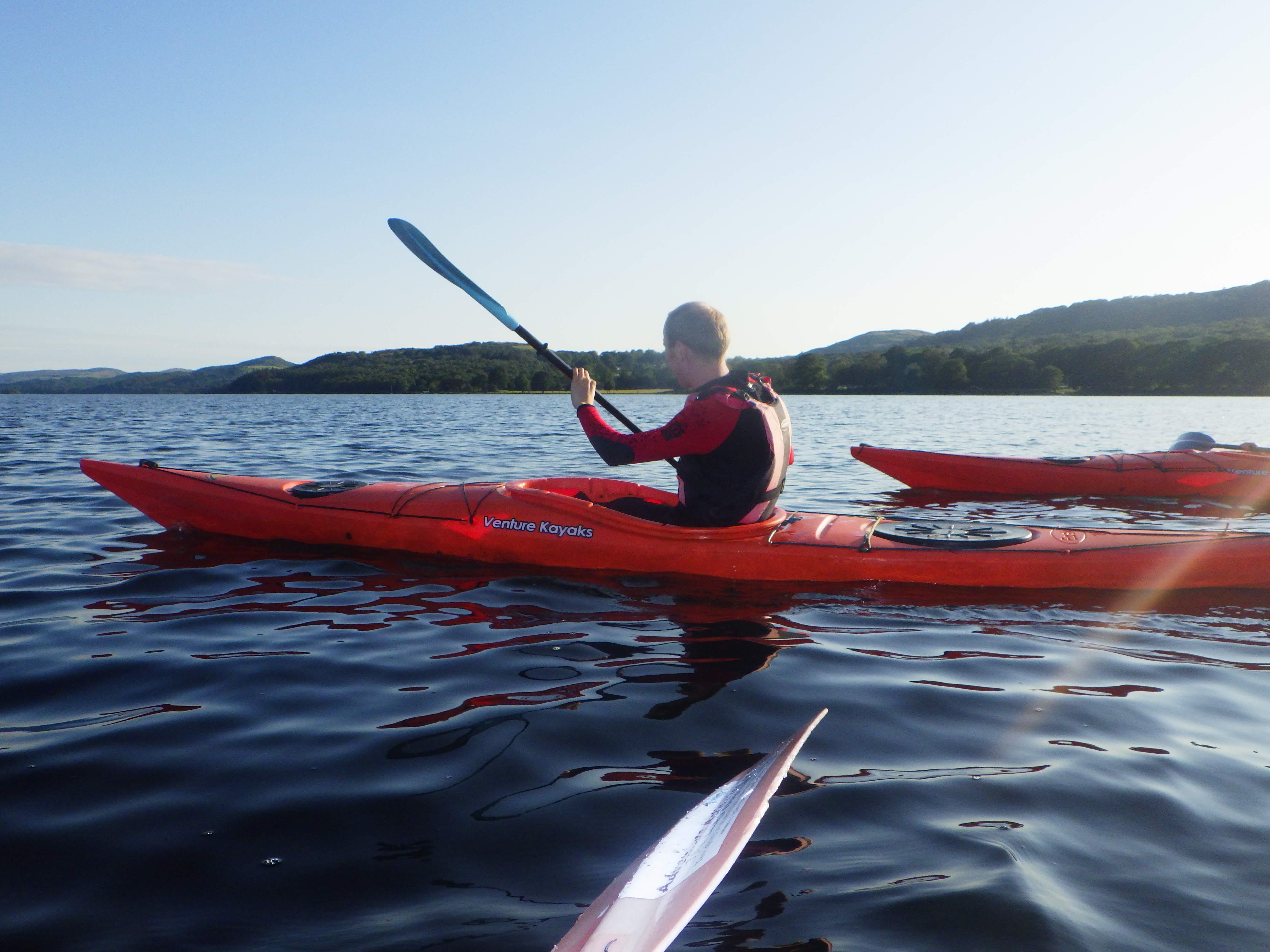 kayak touring Lake Deistrict