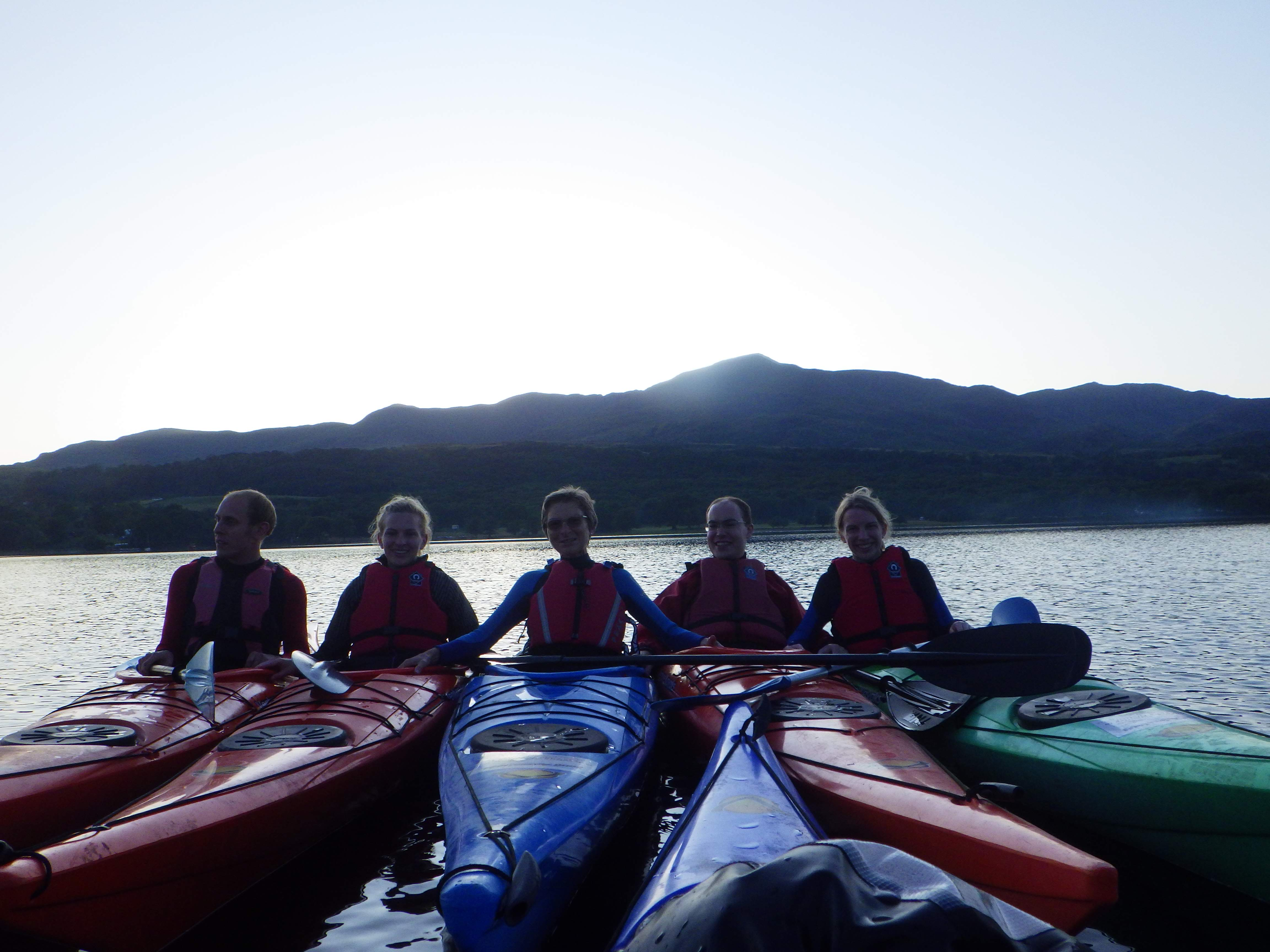 evening kayak tour Coniston water